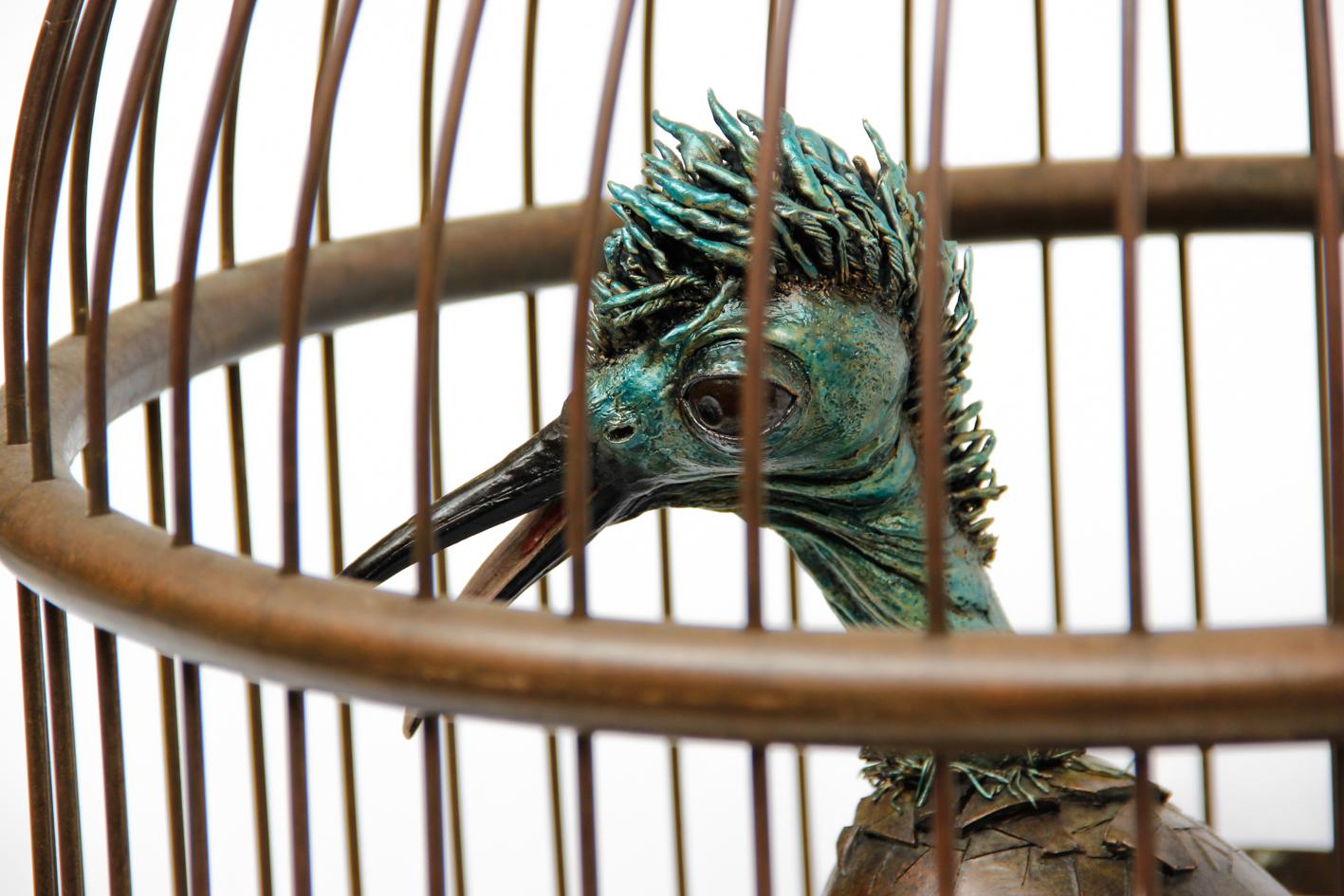 Vogel in kooi 1